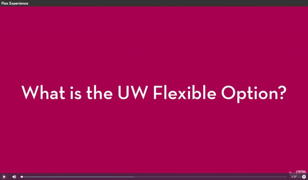 Frequently Asked Questions Uw Flexible Option